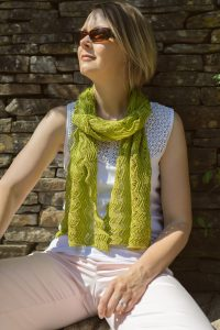Lime Green Shimmer Scarf