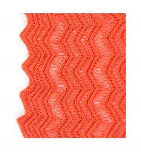 Hot Orange Shimmer Lace Scarf Edging