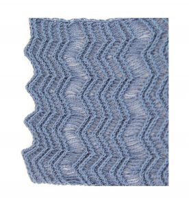 Clematis Blue Shimmer Lace Scarf Edging