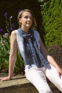 Denim Blue Shimmer Scarf