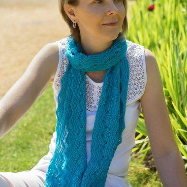 Turquoise Blue Shimmer Scarf