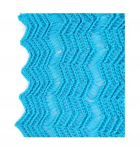 Turquoise Blue Shimmer Lace Edging