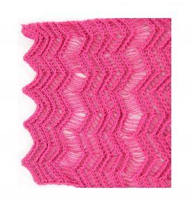 Rose Pink Shimmer Scarf Edging