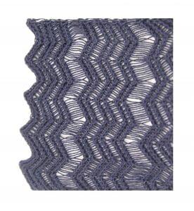 Denim Blue Shimmer Scalloped Edge