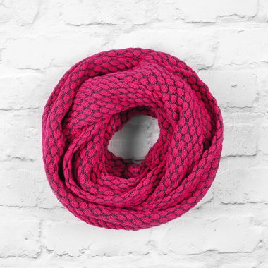Pink & Slate Grey Infinity Scarf