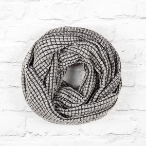 Silver and Black Tumble Blanket Infinity Scarf