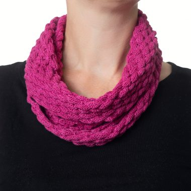 Rose Pink Diamond Cowl