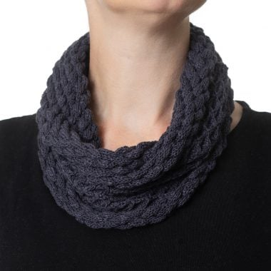 Charcoal Grey Diamond Cowl