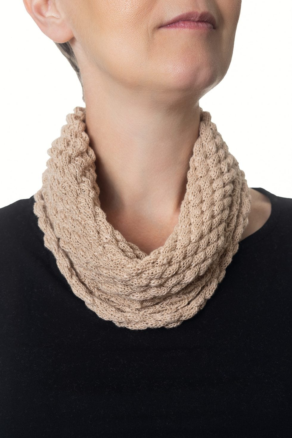 Light Beige Diamond Cowl