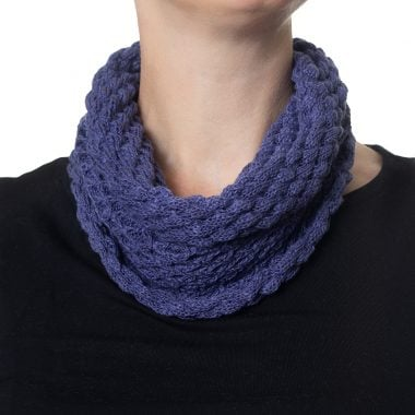 Denim Blue Diamond Cowl