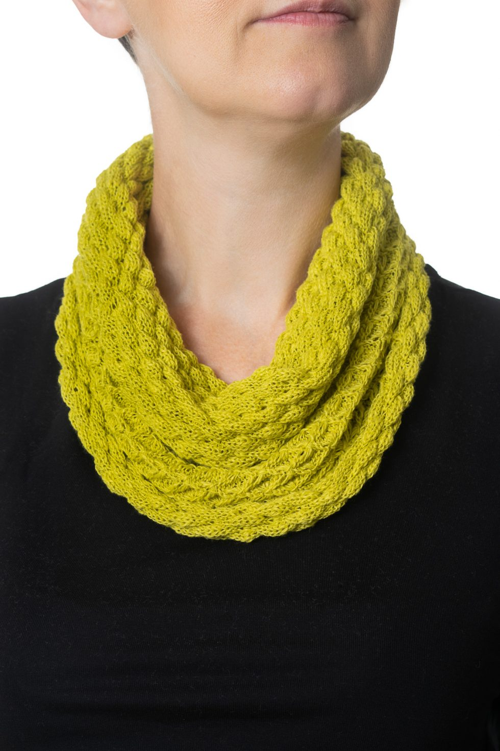Lime Green Diamond Cowl