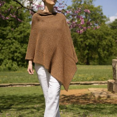Mustard and Black Tumble Poncho