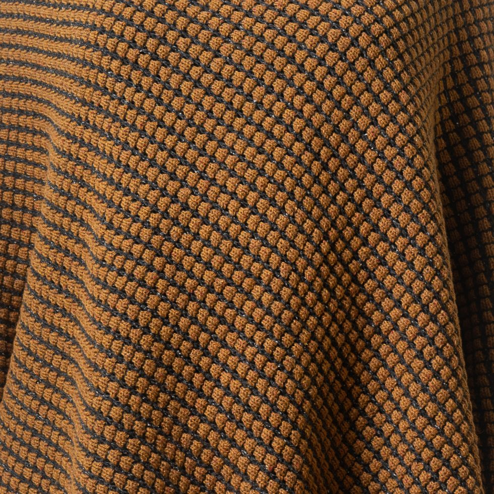 Tumble Mustard and Black Fabric