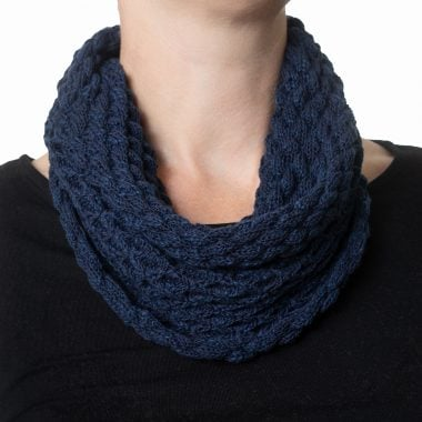 Navy Blue Diamond Cowl