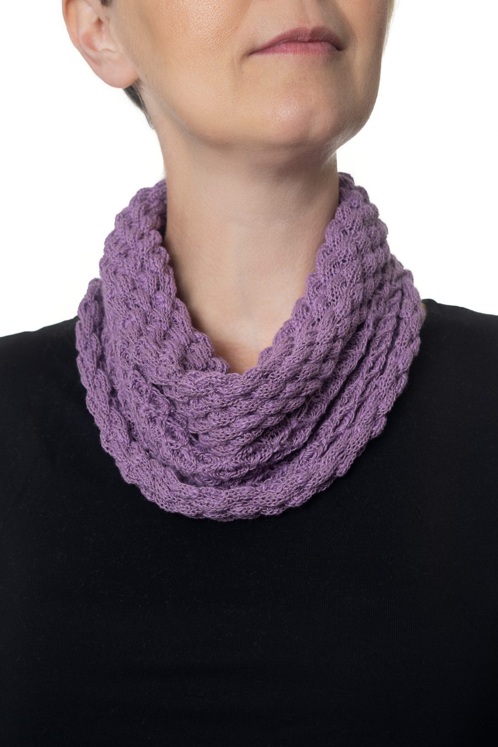 Dark Mauve Diamond Cowl