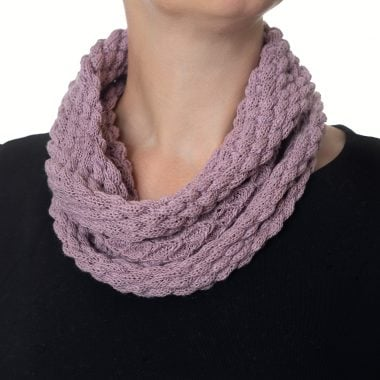 Pale Lilac Diamond Cowl