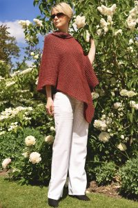Red and Black Tumble Poncho