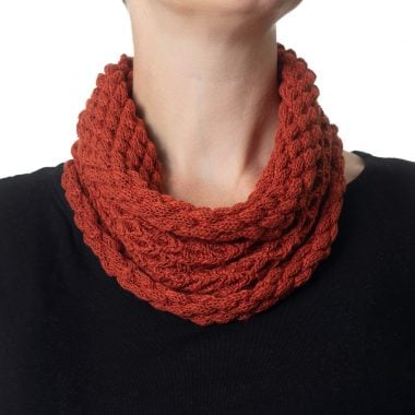 Spiced Orange Diamond Cowl