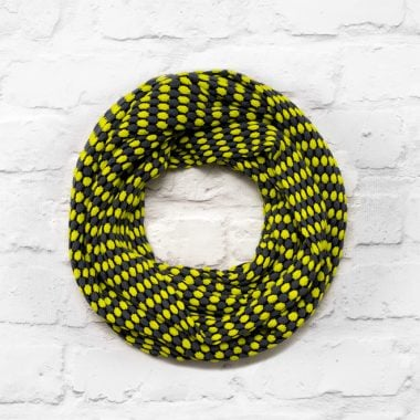 Lime, Slate Grey & Black Infinity Scarf