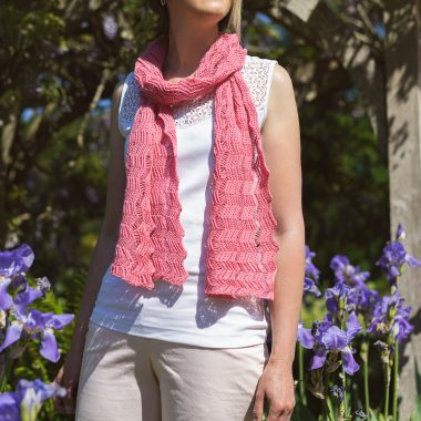 Cyclamen Pink Shimmer Scarf