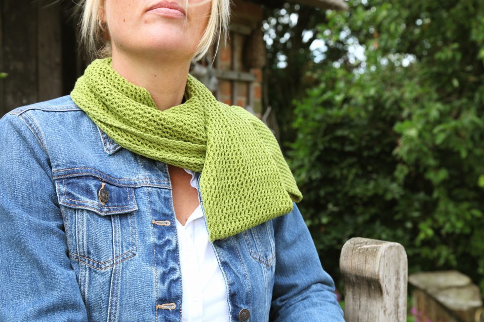 Lime Green Cotton Lace Infinity Scarf