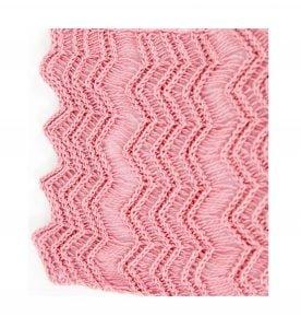 Scalloped Edge Lace Cotton Scarf