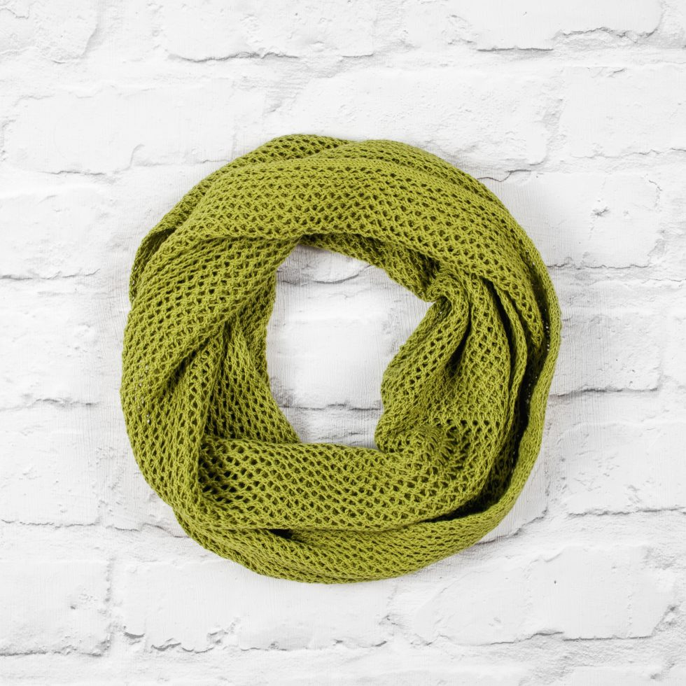 Lime Green Cotton Lace Infinity