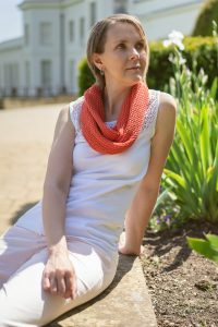 Hot Orange Cotton Lace Infinity