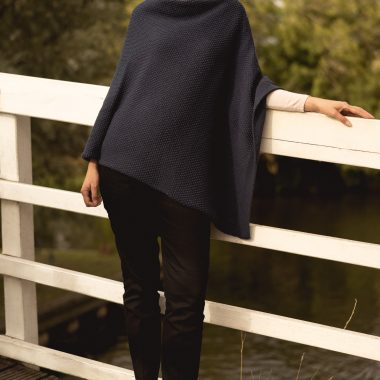Navy Seed Poncho