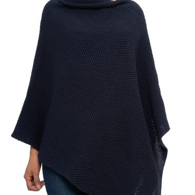 Navy Blue Seed Poncho