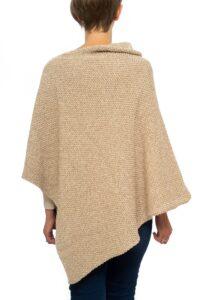 Camel Tweed Mix Seed Poncho
