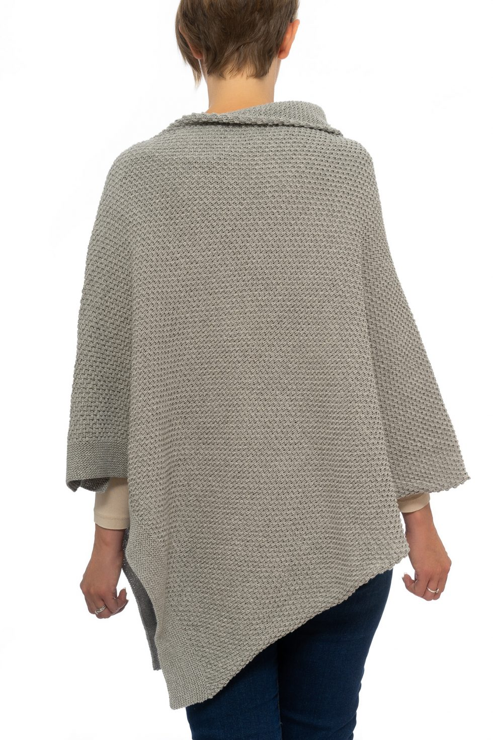 Light Grey Seed Poncho